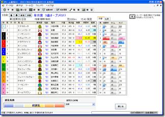 ドリーム競馬EXのメイン画面